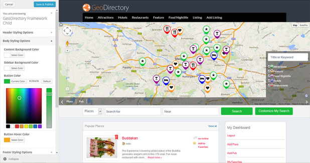 GeoDirectory Theme Framework Customizer