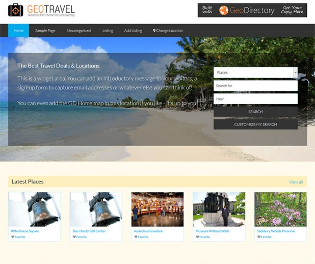 Geo Travel – Genesis Child Theme