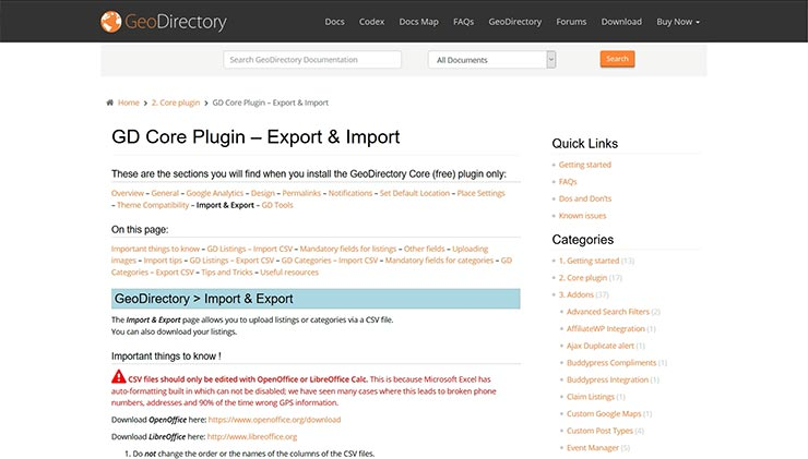 geodirectory-import-documentation
