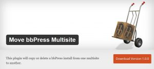 move bbpress multisite plugin