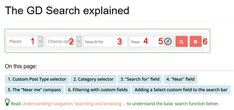geodirectory search explained